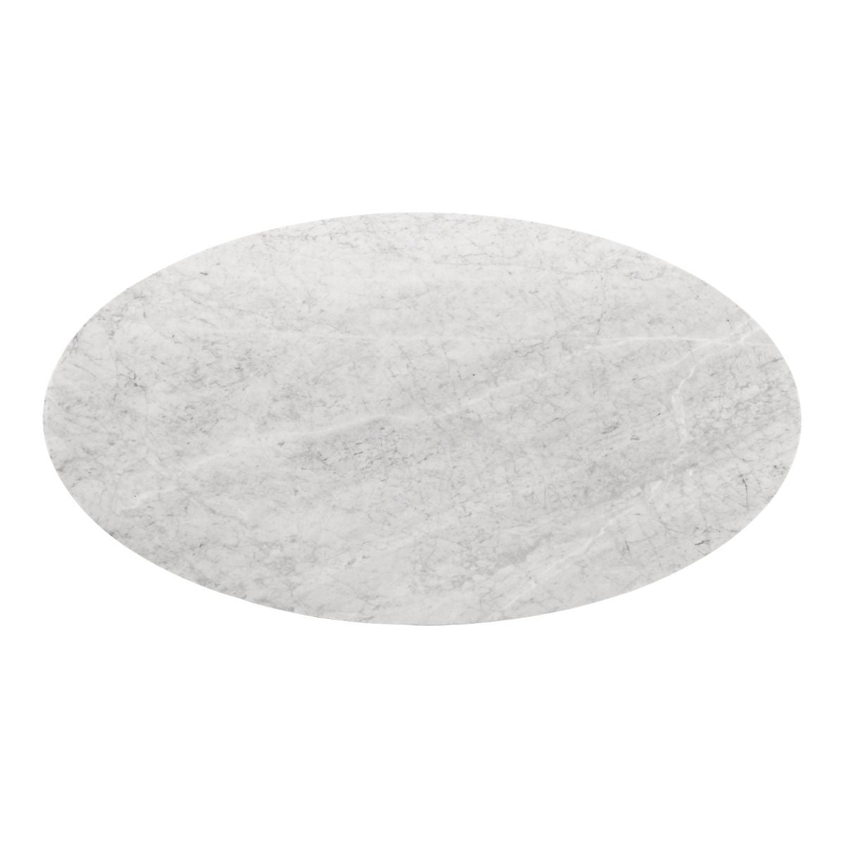 "Bungalow 5 - STOCKHOLM 79"" OVAL DINING TABLE TOP, WHITE (BASE SOLD SEPARATELY)"