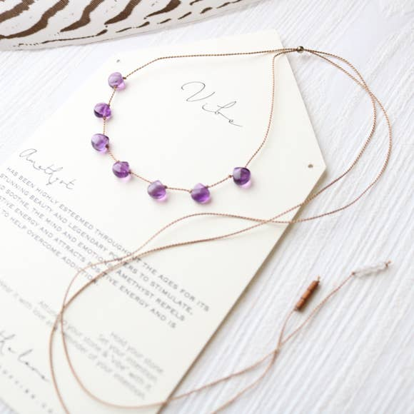 7 Stone - Amethyst Necklace