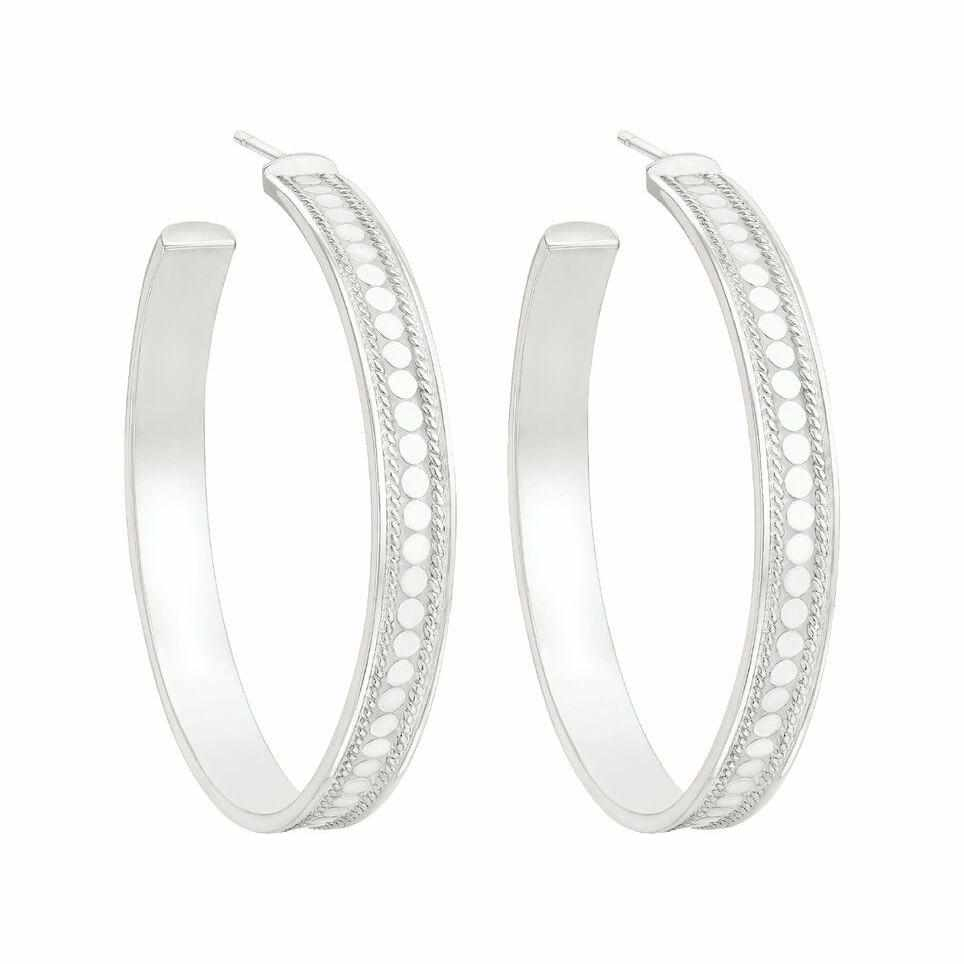 Anna Beck Hoop Earrings - Silver-Anna Beck Jewelry-Blue Hand Home