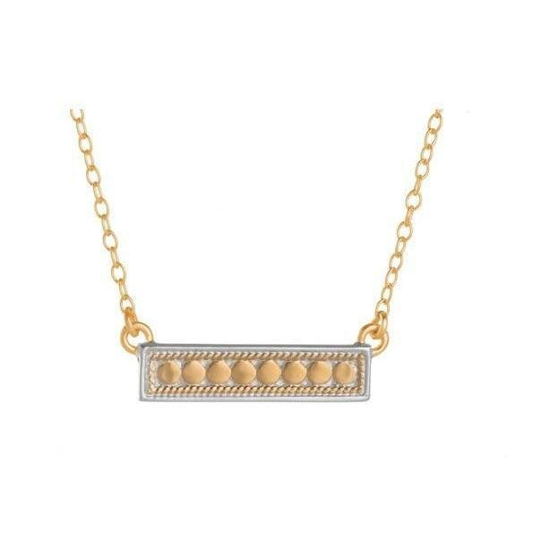 Anna Beck Bar Necklace - Gold-Anna Beck Jewelry-Blue Hand Home