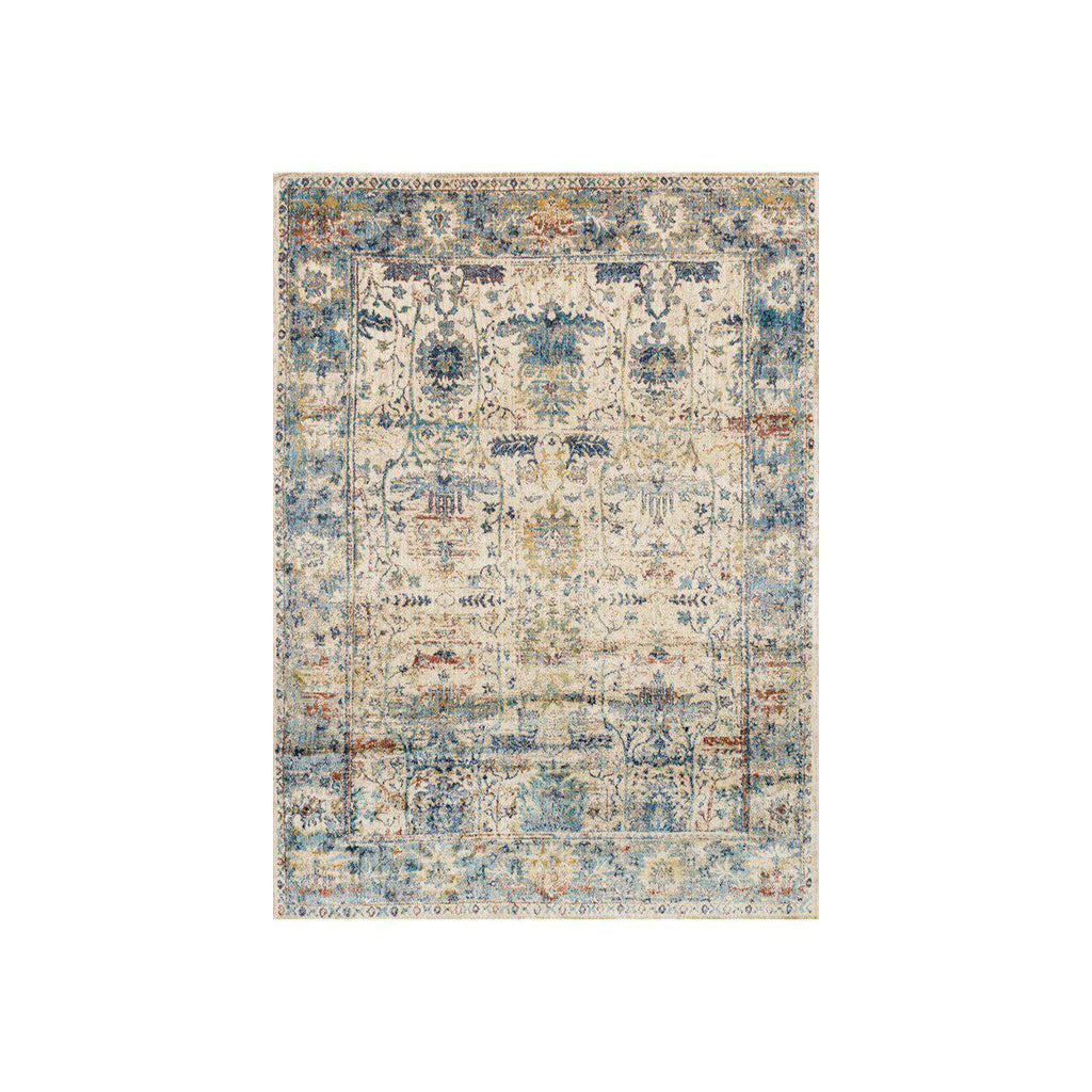 Loloi Rugs Anastasia Collection - AF-07 Sand/Light Blue-Loloi Rugs-Blue Hand Home