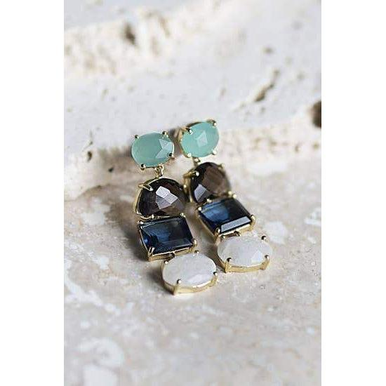 Alex Earrings-Joya-Blue Hand Home