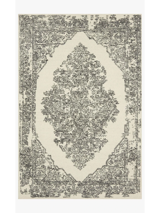 Joanna Gaines Annie Rug Collection - ANN-02 White/Black