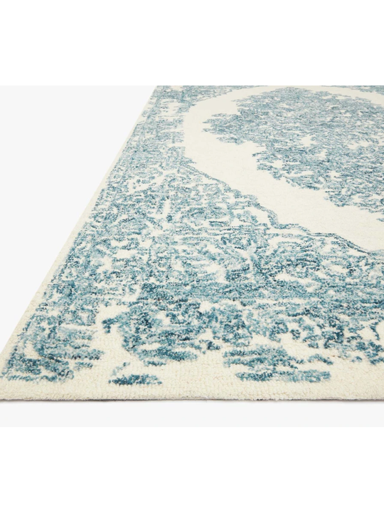 Joanna Gaines Annie Rug Collection - ANN-02 White/Blue