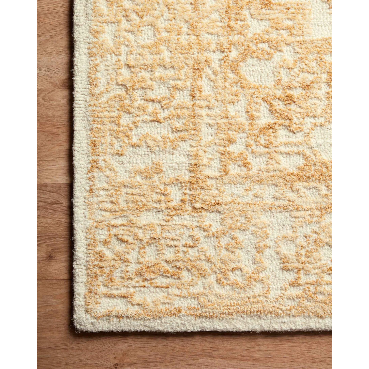 Joanna Gaines Annie Rug Collection - ANN-03 White/Gold-Loloi Rugs-Blue Hand Home