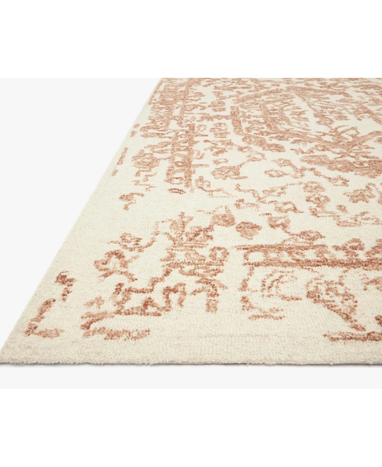 Joanna Gaines Annie Rug Collection - ANN-01 White/Rust