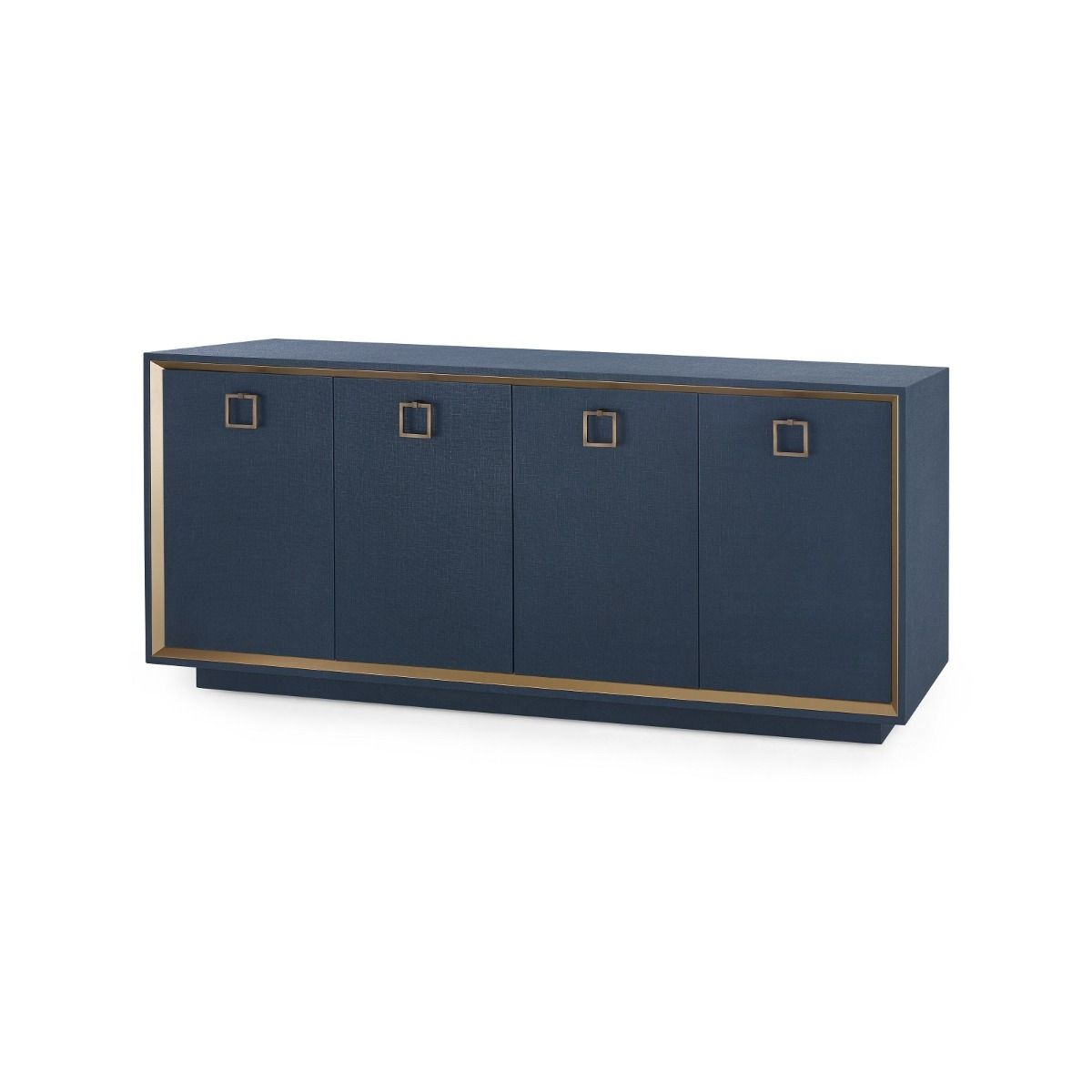 Bungalow 5 - ANSEL 4-DOOR CABINET, NAVY BLUE