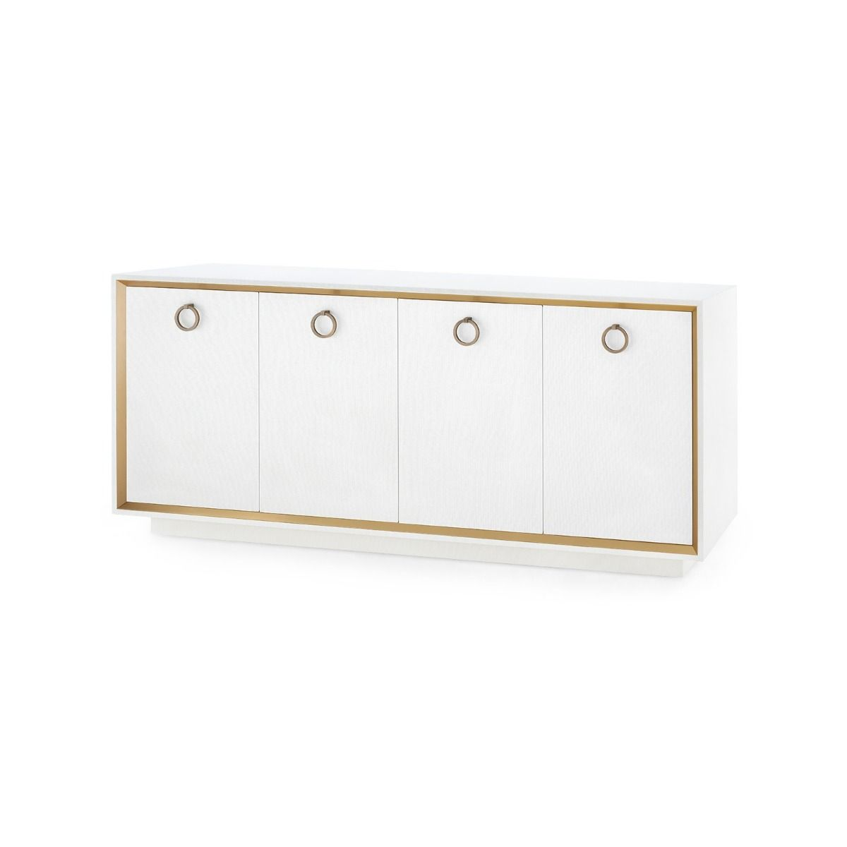 Bungalow 5 - ANSEL 4-DOOR CABINET, WHITE