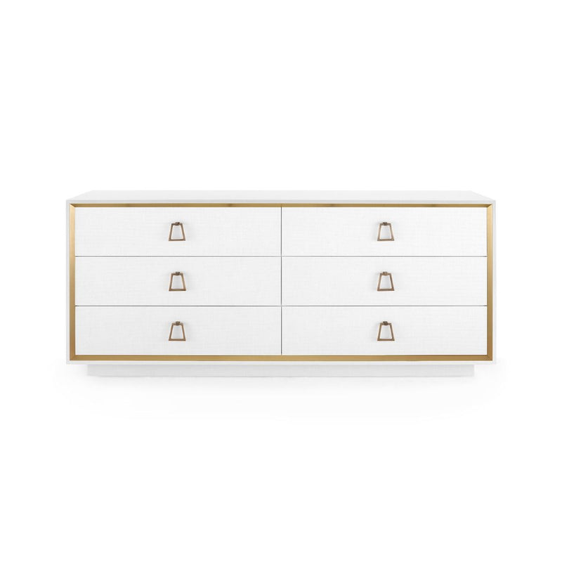 Bungalow 5 - ANSEL EXTRA LARGE 6-DRAWER, WHITE-Bungalow 5-Blue Hand Home