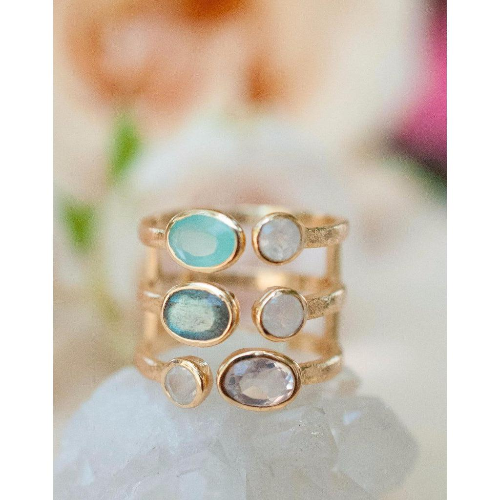 Ayala Multi Stones Ring-ByCila-Blue Hand Home