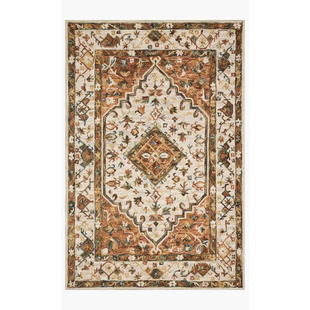 Beatty Rugs by Loloi - BEA-01 - Ivory / Rust-Loloi Rugs-Blue Hand Home