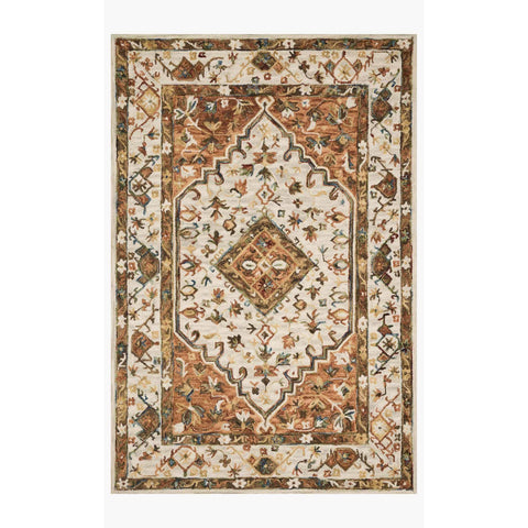 Beatty Rugs by Loloi - BEA-01 - Ivory / Rust