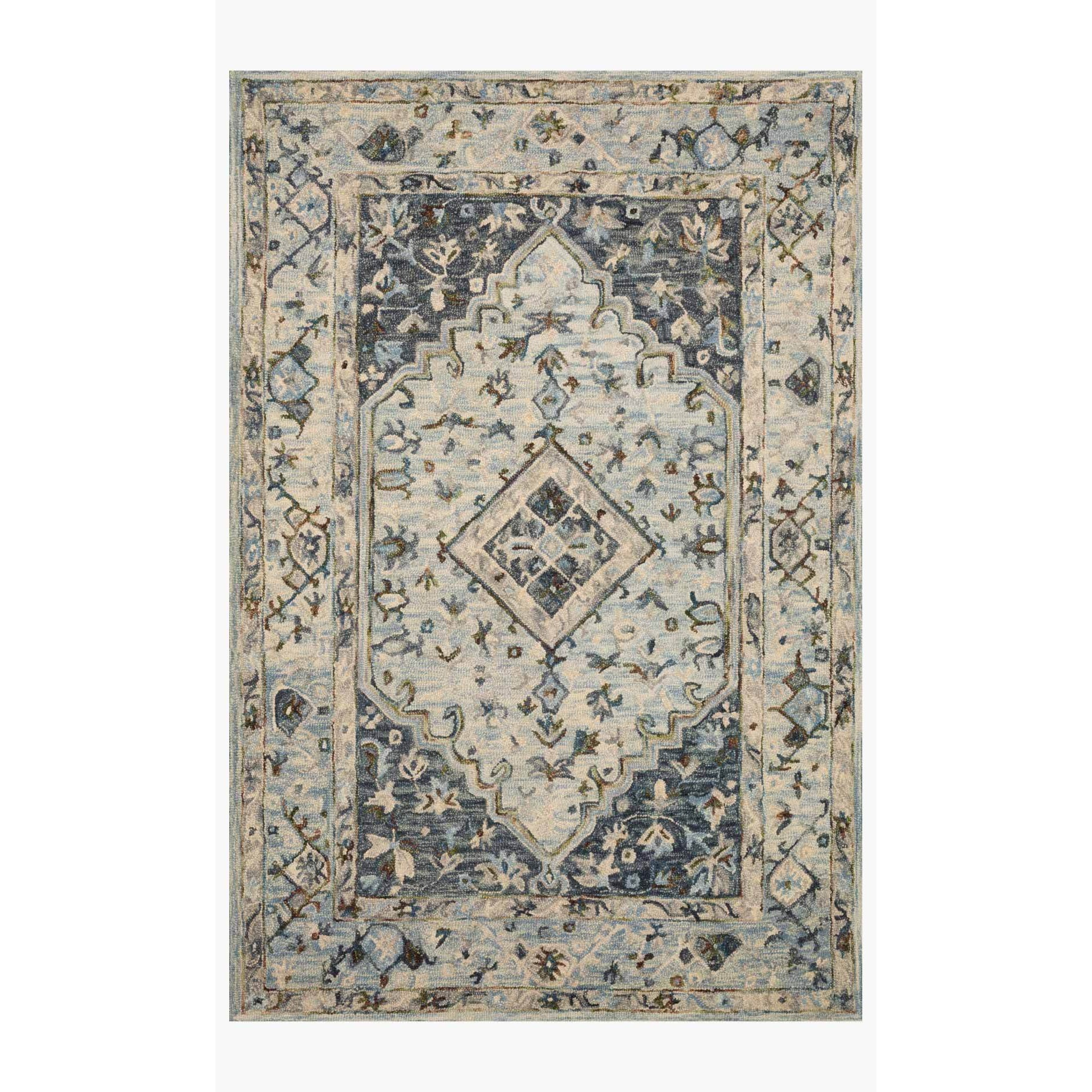 Beatty Rugs by Loloi - BEA-01 - Lt. Blue / Blue-Loloi Rugs-Blue Hand Home