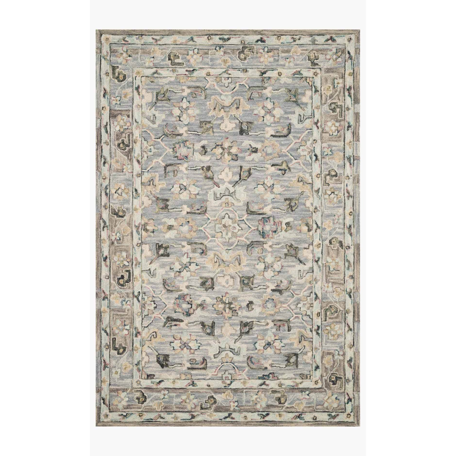 Beatty Rugs by Loloi - BEA-04 - Light Blue / Multi-Loloi Rugs-Blue Hand Home