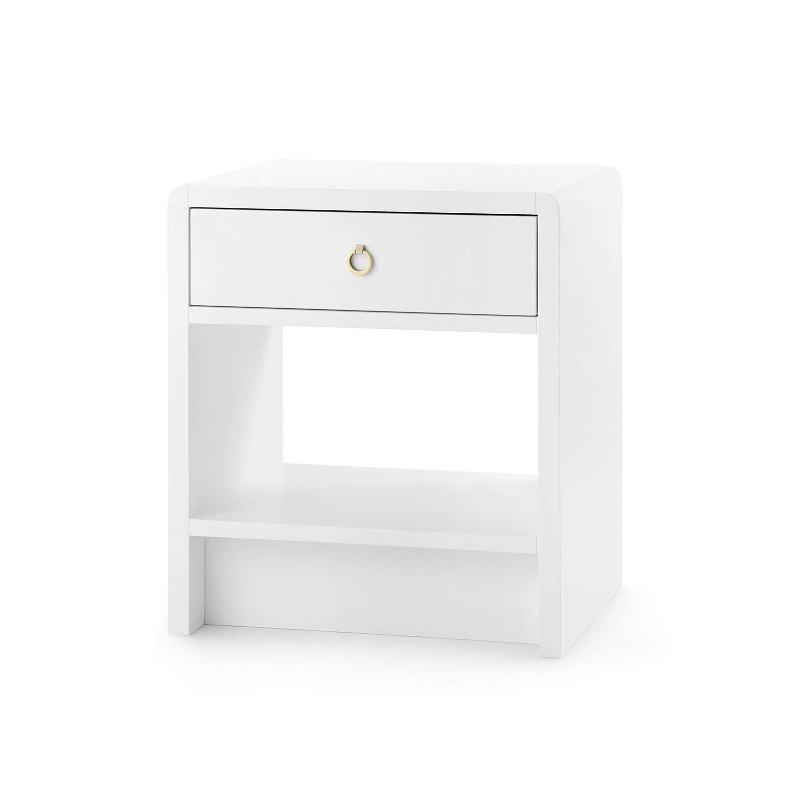 Bungalow 5 - BENJAMIN 1-DRAWER SIDE TABLE in WHITE-Bungalow 5-Blue Hand Home