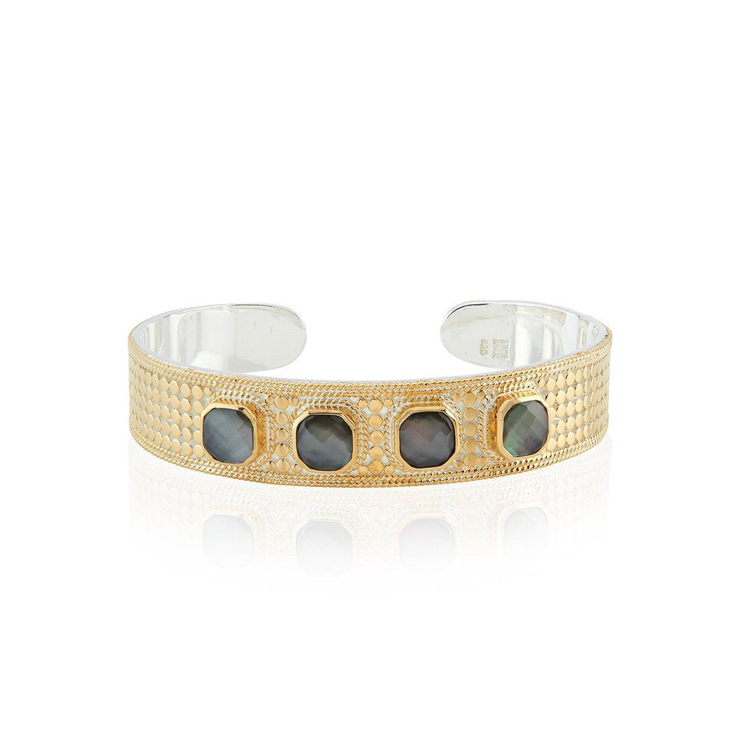 Anna Beck Grey Quartz Multi-Stone Cuff-Anna Beck Jewelry-Blue Hand Home