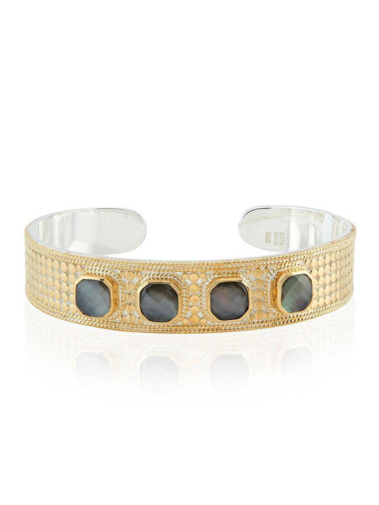 Anna Beck Grey Quartz Multi-Stone Cuff
