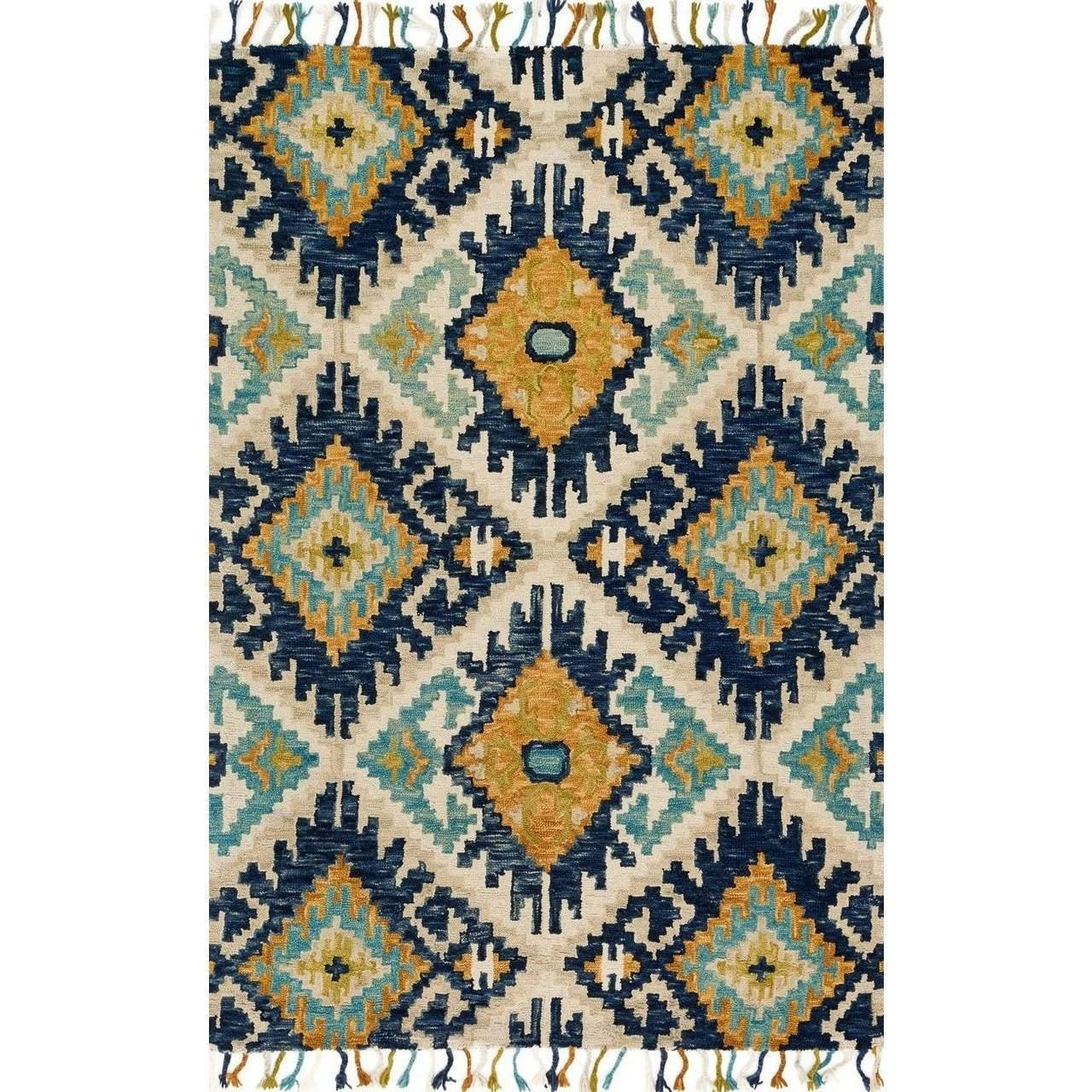 Joanna Gaines Rugs of Magnolia Home Rug Collection - Brushstroke Collection - Ivory / Marine