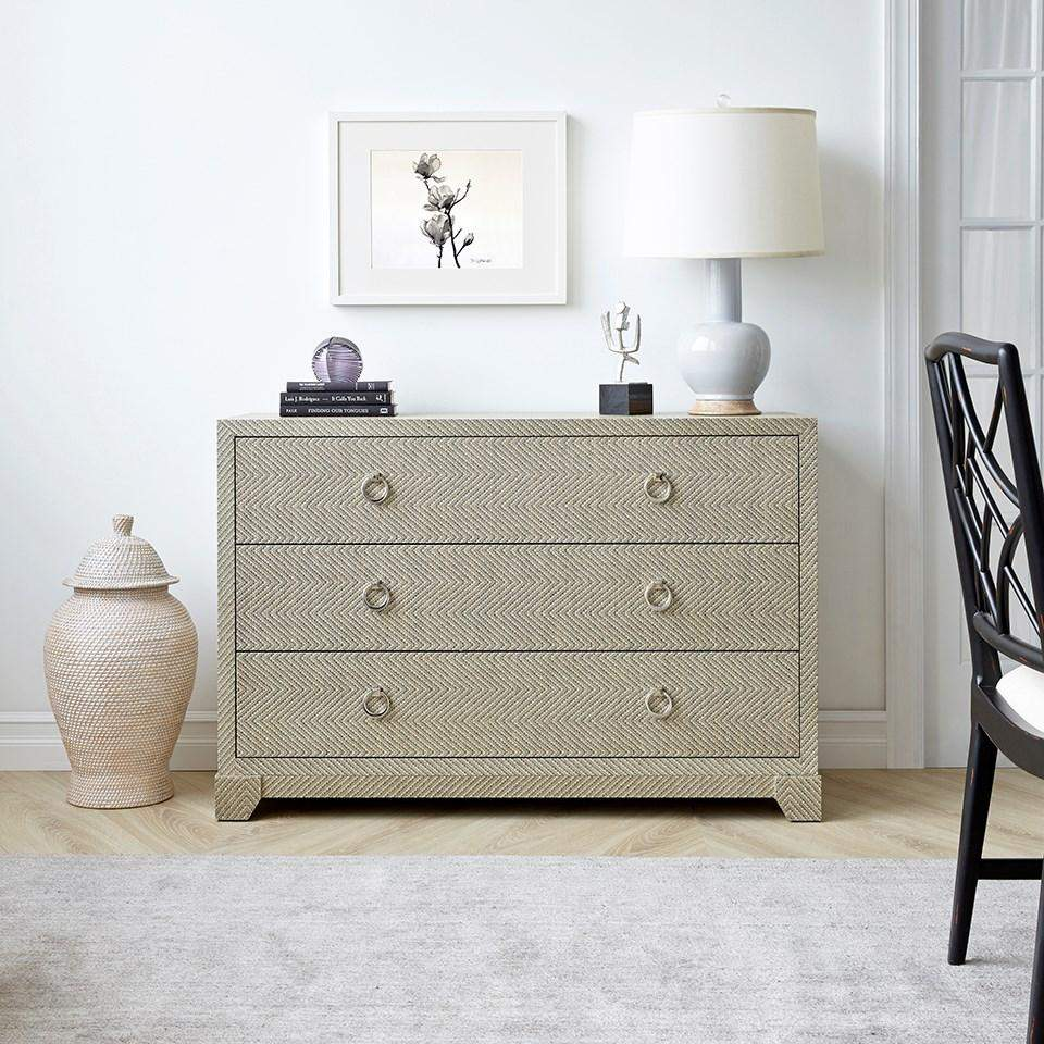 Bungalow 5 - BRITTANY LARGE 3-DRAWER in GRAY TWEED-Bungalow 5-Blue Hand Home