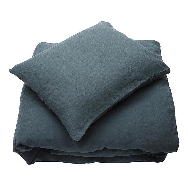 Stone Washed Bed Set - Balsam Green-Linen Me-Blue Hand Home