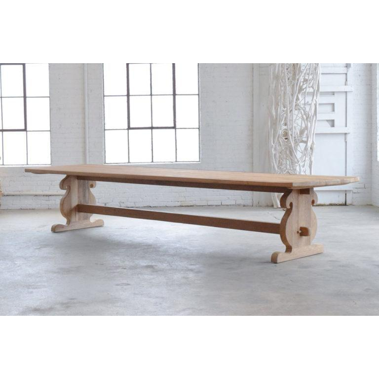 Baroque Style Table in Reclaimed Teak - Natural-Organic Restoration-Blue Hand Home