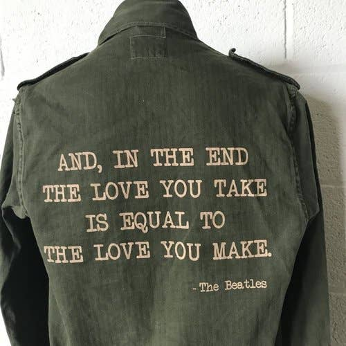Beatles Military Jacket-Stash Style-Blue Hand Home