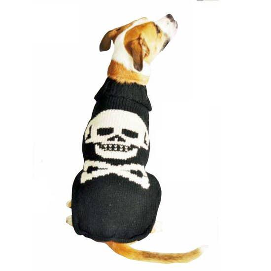 Black Skull Dog Sweater-Chilly Dog-Blue Hand Home