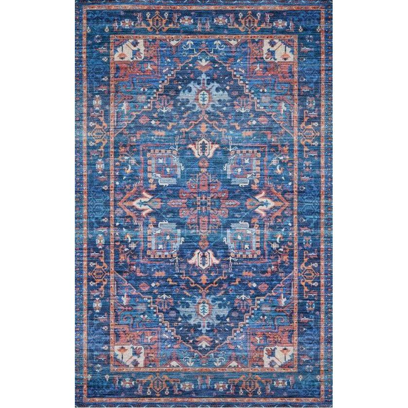 Justina Blakeney Rugs - Cielo - CIE-04 Blue/Multi-Loloi Rugs-Blue Hand Home