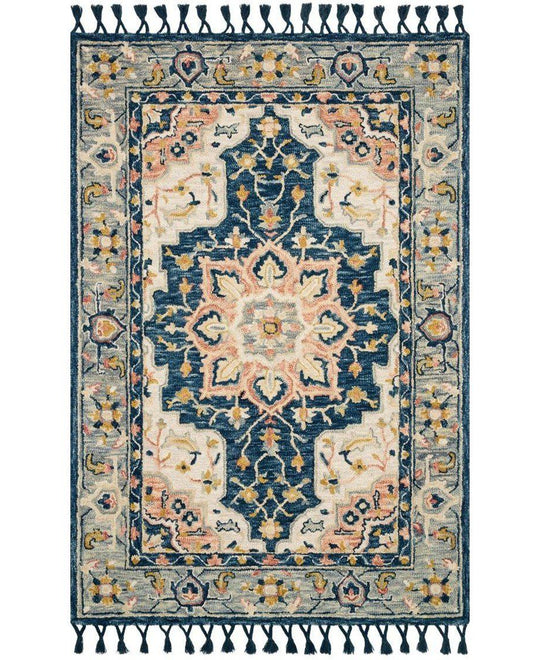 Joanna Gaines Kasuri Rug Collection - Blue/Multi