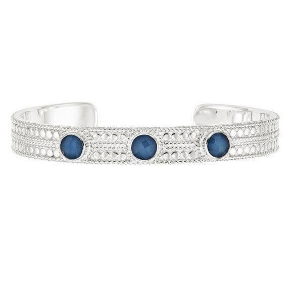 Anna Beck Blue Quartz Cuff - Silver-Anna Beck Jewelry-Blue Hand Home
