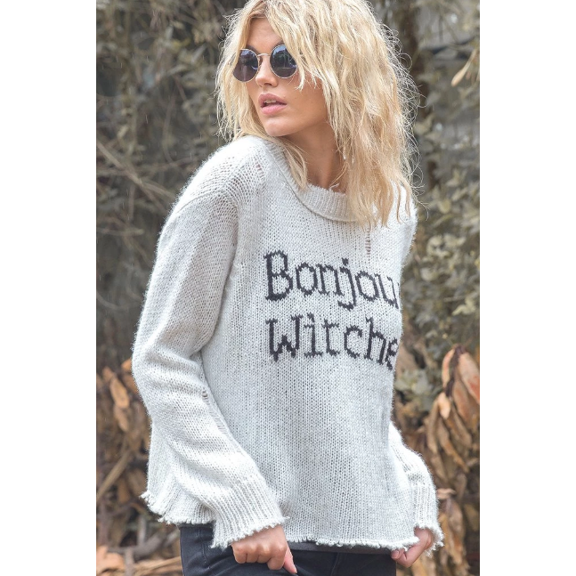 Bonjour Witches Slouchy Pullover