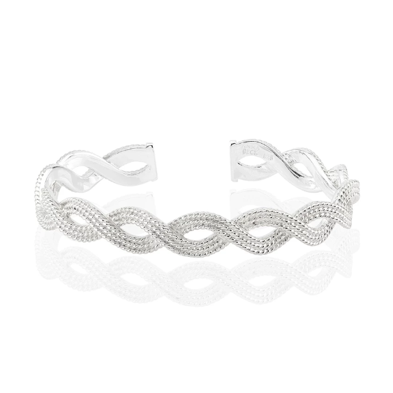Anna Beck Braided Stacking Cuff - Silver-Anna Beck Jewelry-Blue Hand Home