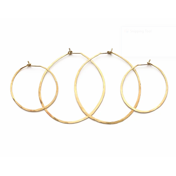 Brass Hoops Earrings-Mind's Eye Design-Blue Hand Home
