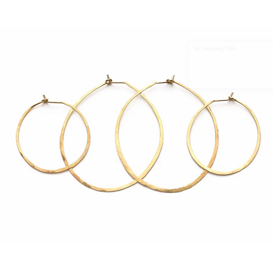 Brass Hoops Earrings