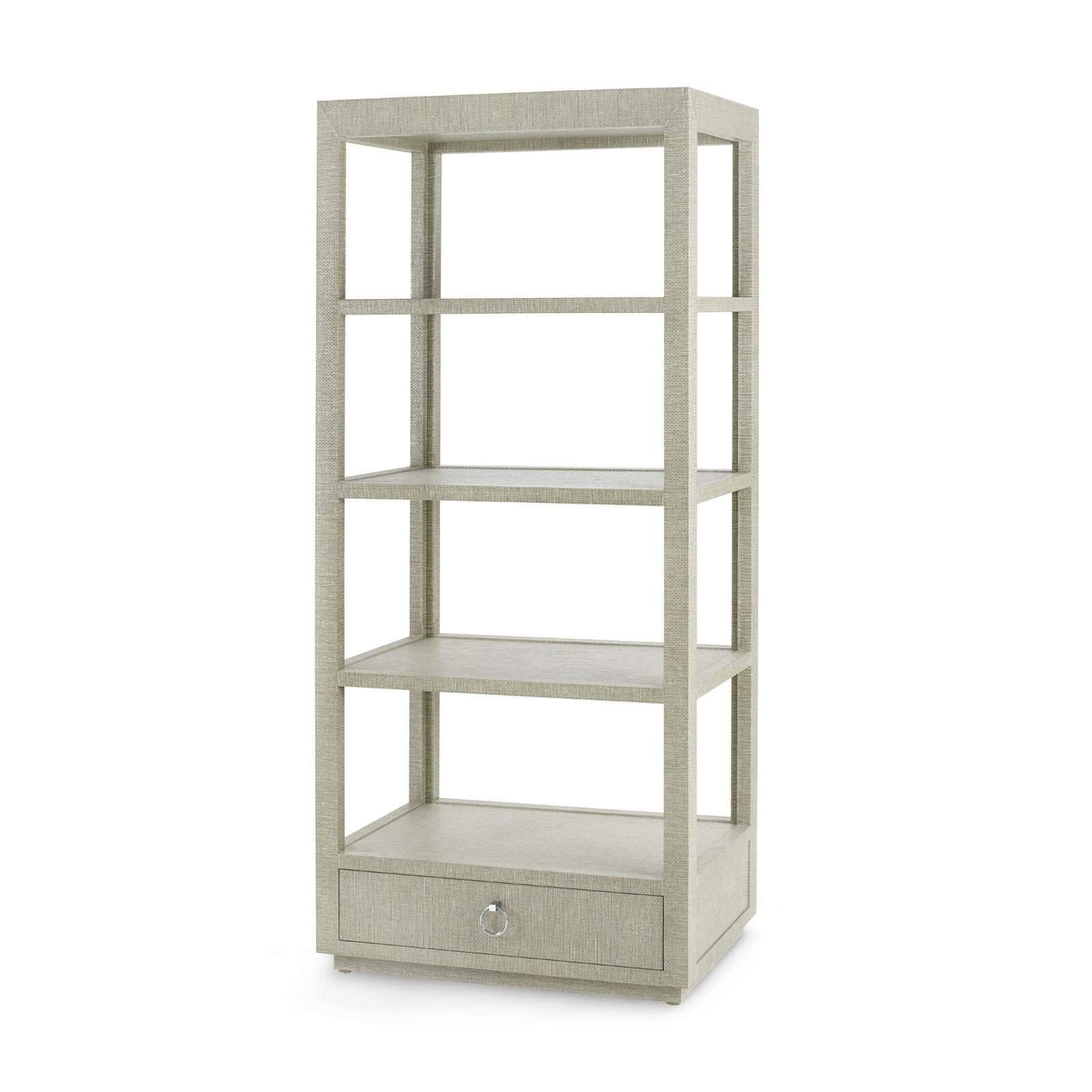 Bungalow 5 - Camilla Etagere, Moss Gray Tweed