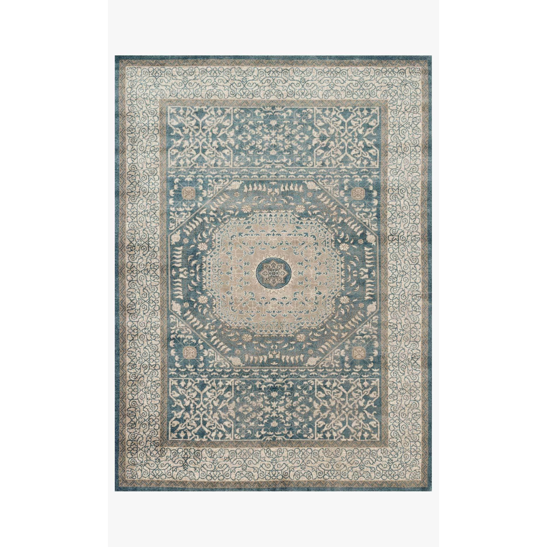 Century Rugs by Loloi - CQ-01 - Blue Sand-Loloi Rugs-Blue Hand Home