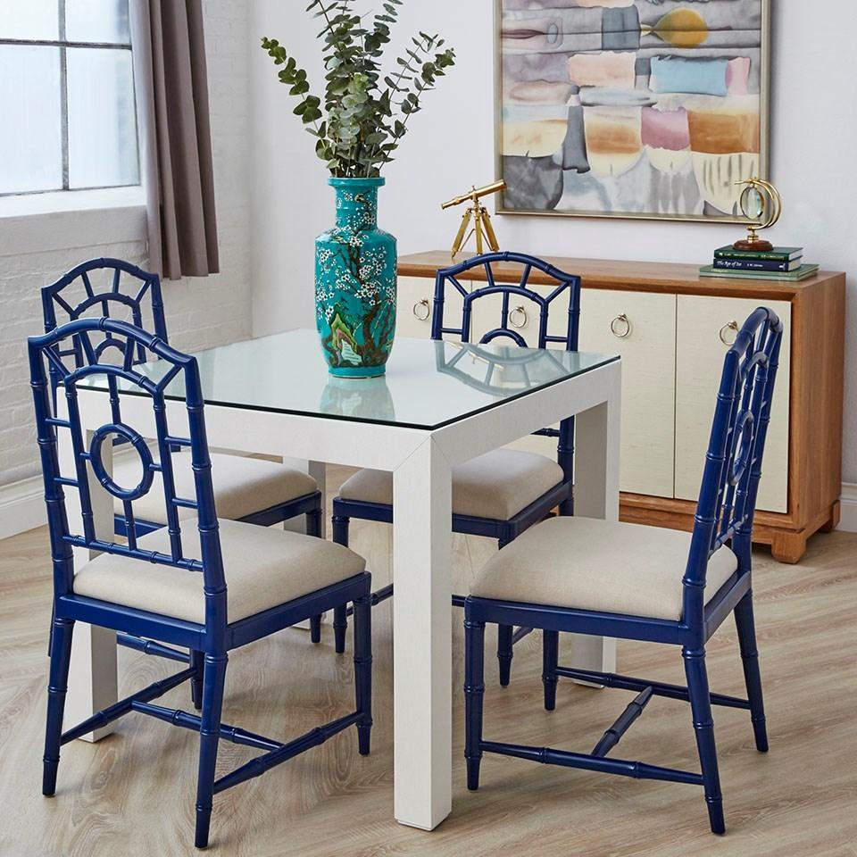 Bungalow 5 Chloe Side Chair In Navy Blue