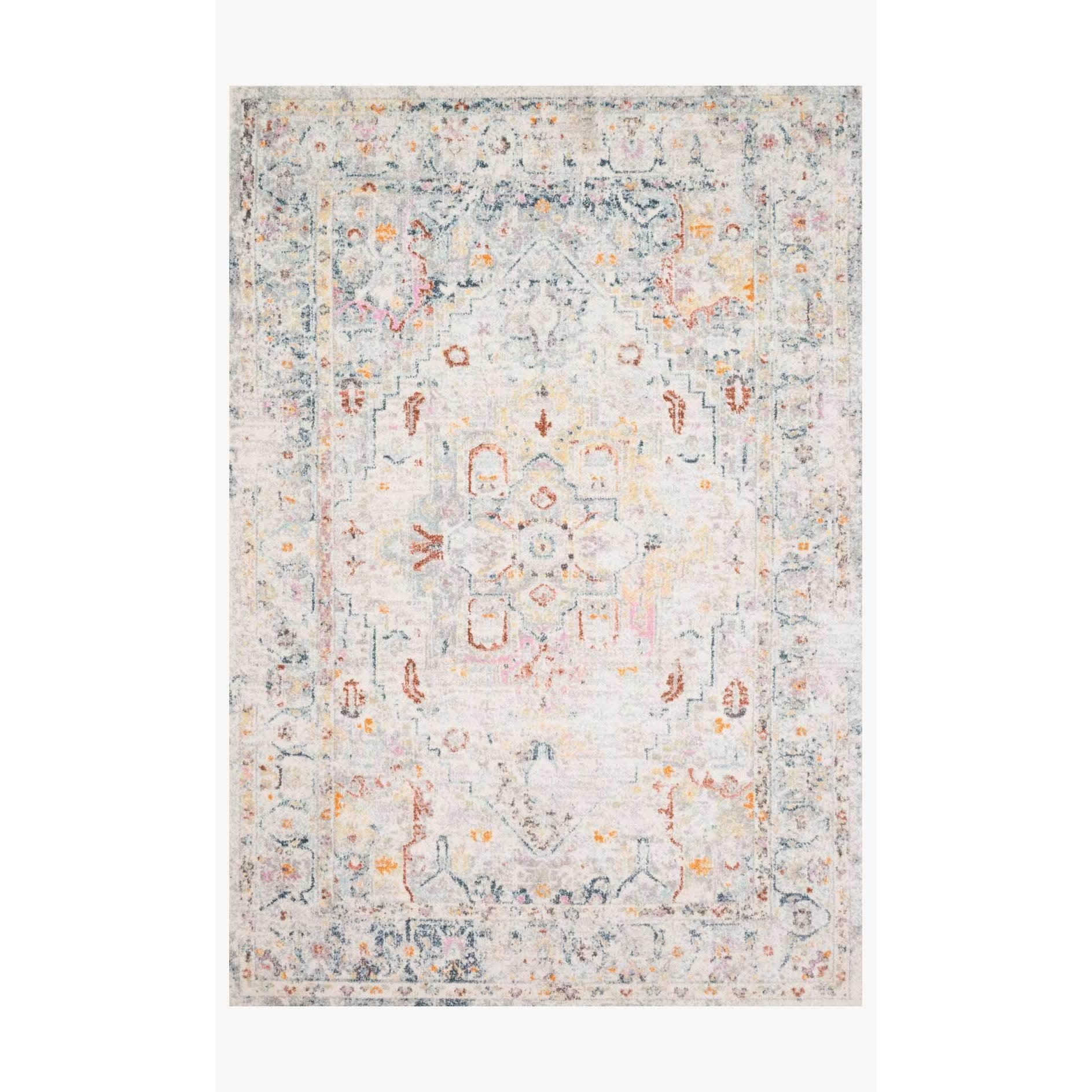 Clara Rugs by Loloi - Lt Grey / Multi-Loloi Rugs-Blue Hand Home