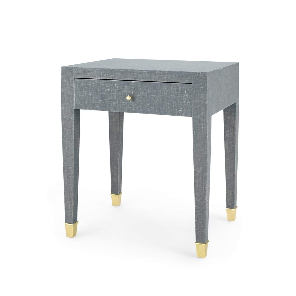 Bungalow 5 - CLAUDETTE 1-DRAWER SIDE TABLE in GRAY-Bungalow 5-Blue Hand Home