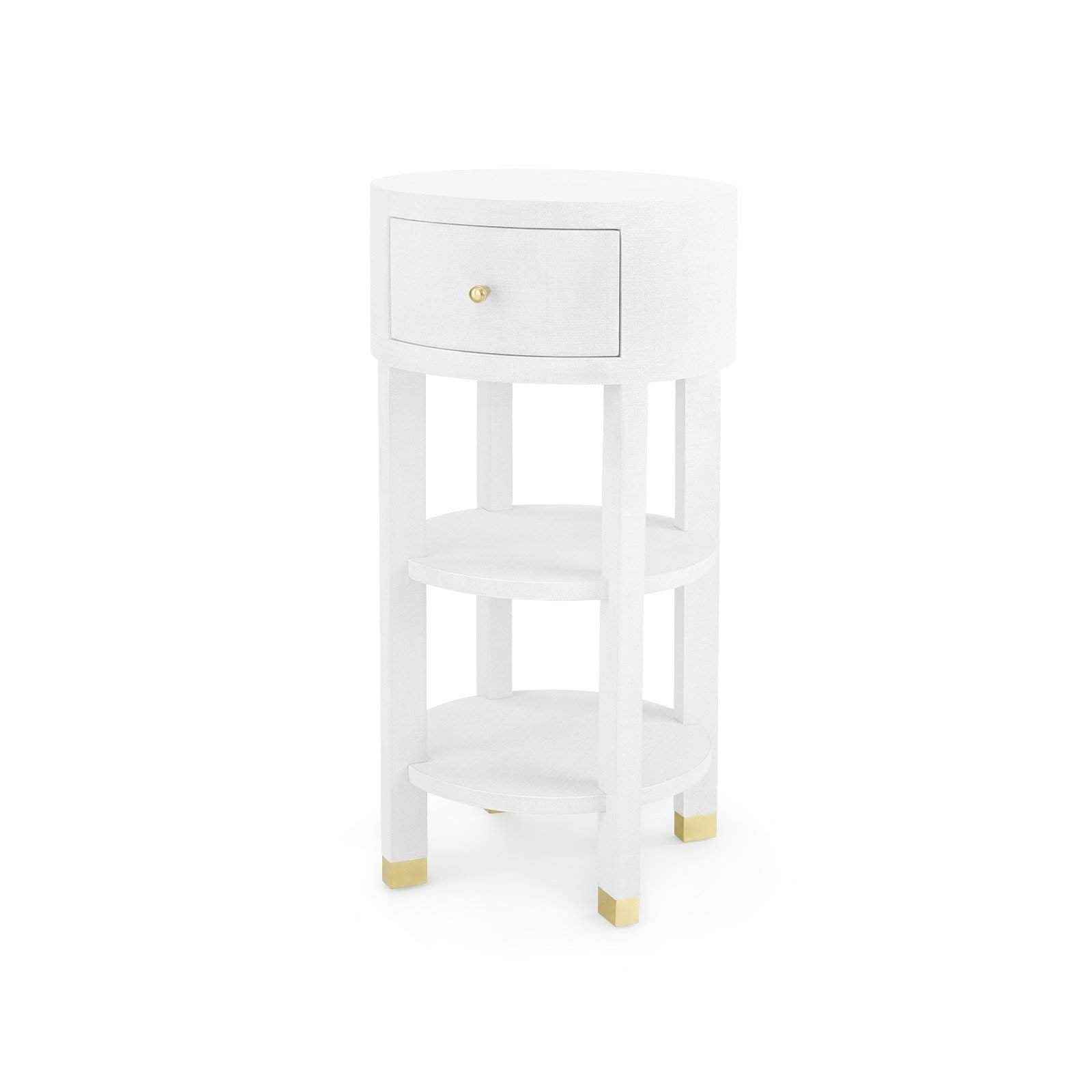 Bungalow 5 Claudette 1 Drawer Round Side Table In White
