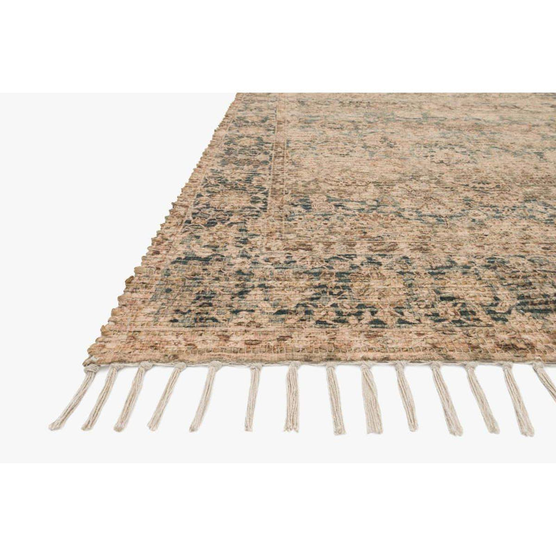 Justina Blakeney Rugs - Cornelia - Cor-01 - Natural/Teal-Loloi Rugs-Blue Hand Home