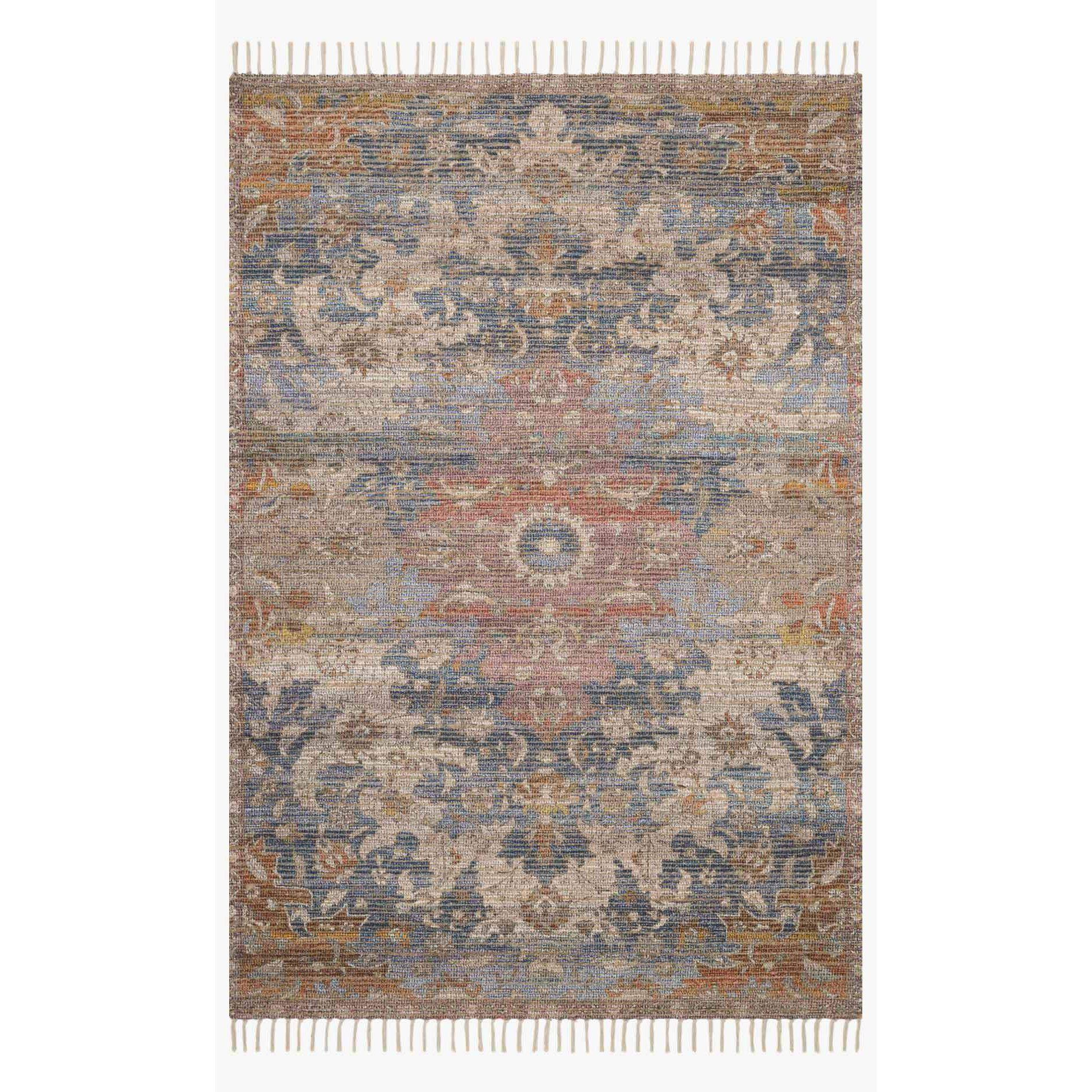 Justina Blakeney Rugs - Cornelia - Cor-06 Denim/Multi-Loloi Rugs-Blue Hand Home