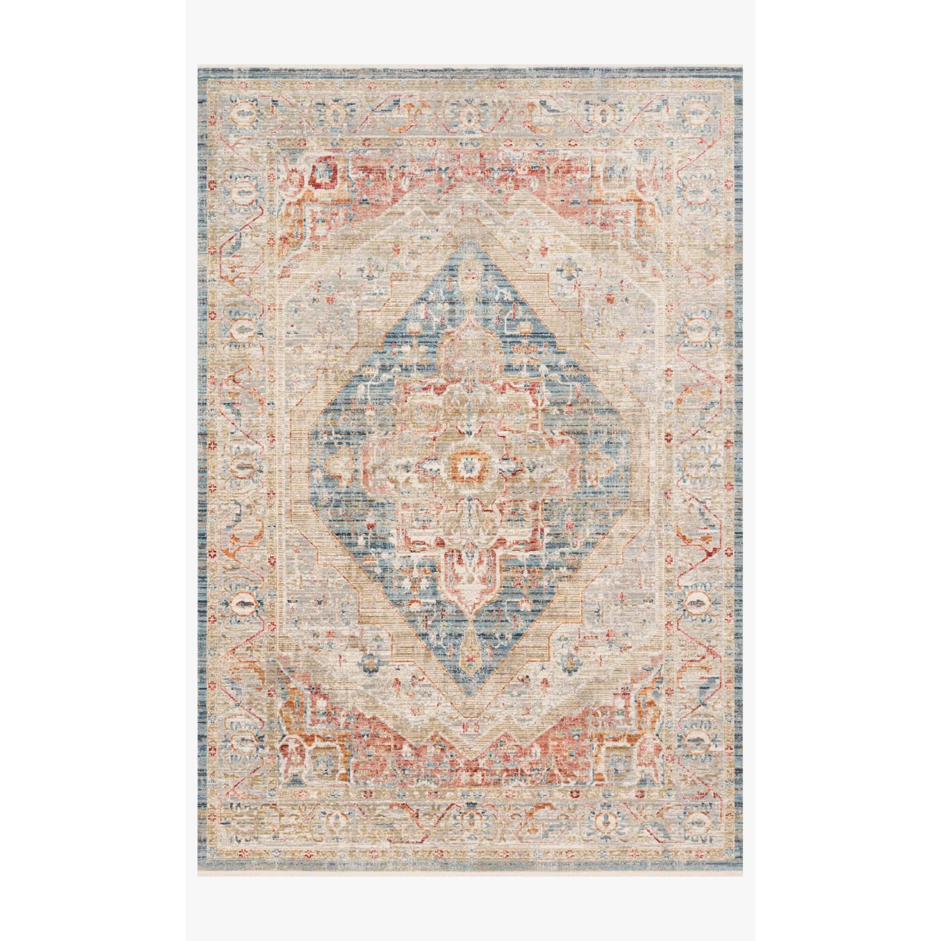 Claire Rugs by Loloi - CLE-04 Blue/Multi-Loloi Rugs-Blue Hand Home
