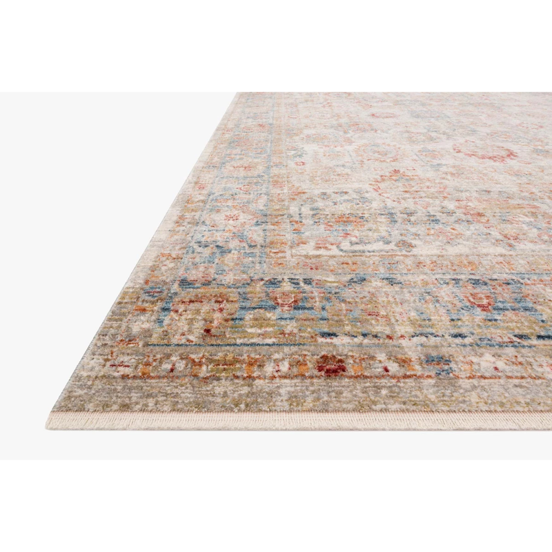 Claire Rugs by Loloi - CLE-02 Ivory/Ocean-Loloi Rugs-Blue Hand Home