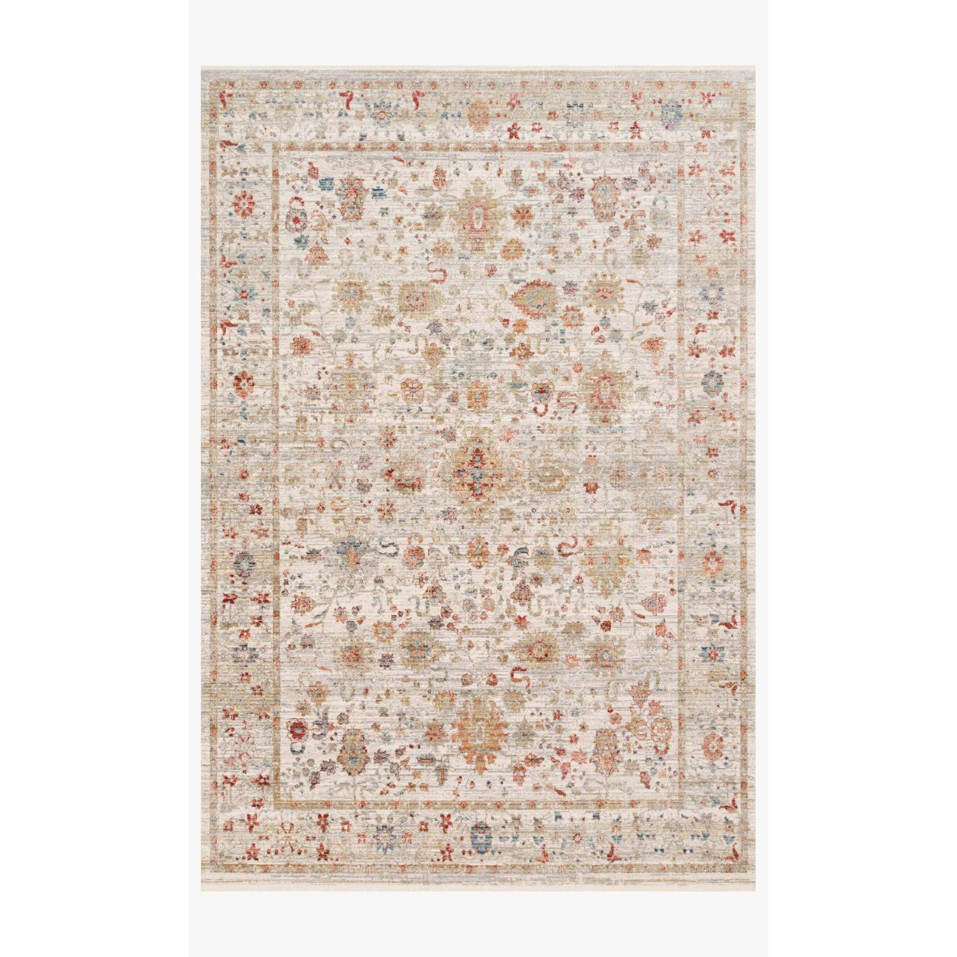 Claire Rugs by Loloi - CLE-05 Ivory/Multi-Loloi Rugs-Blue Hand Home