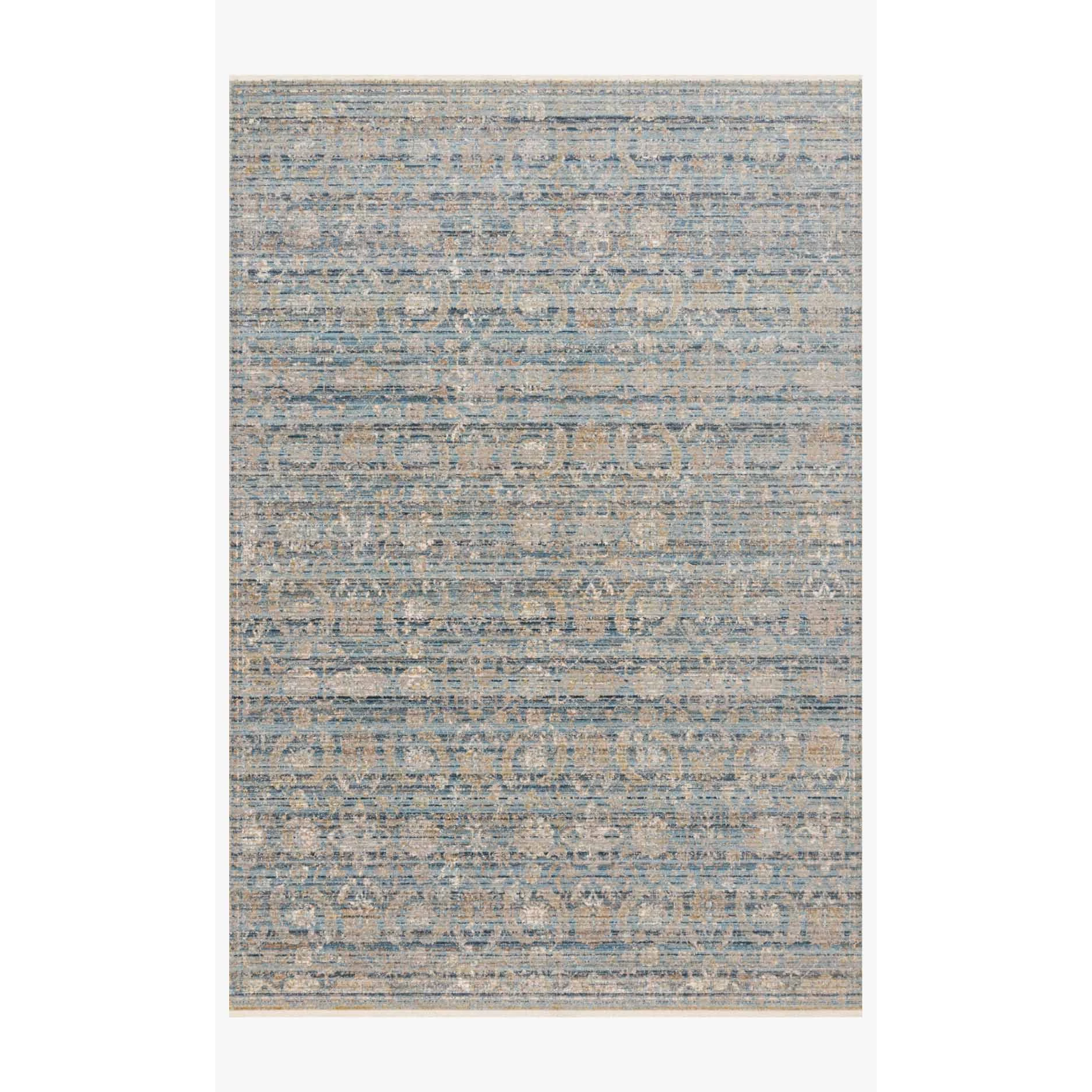 Claire Rugs by Loloi - CLE-03 Ocean/Gold-Loloi Rugs-Blue Hand Home