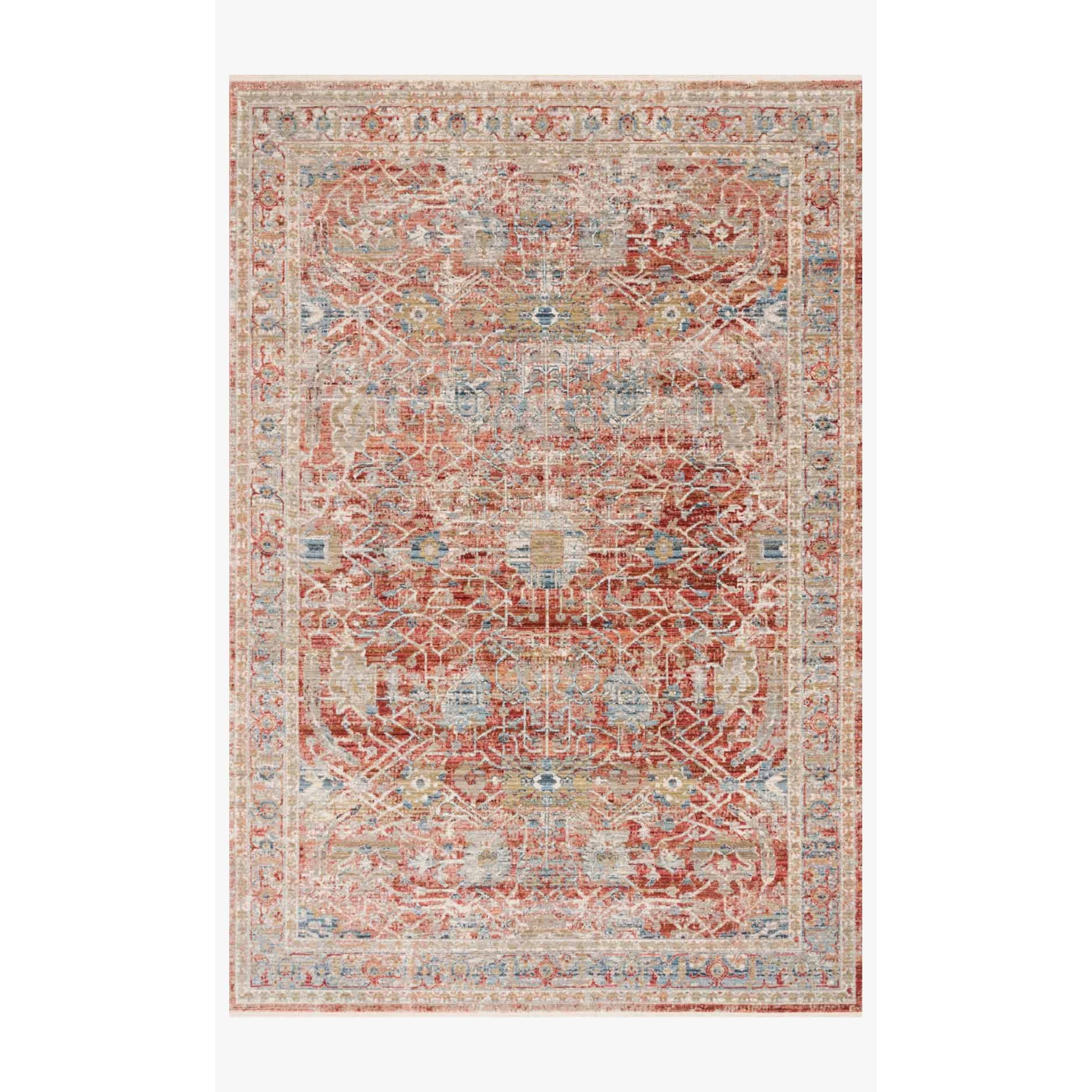 Claire Rugs by Loloi - CLE-01 Red/Ivory-Loloi Rugs-Blue Hand Home