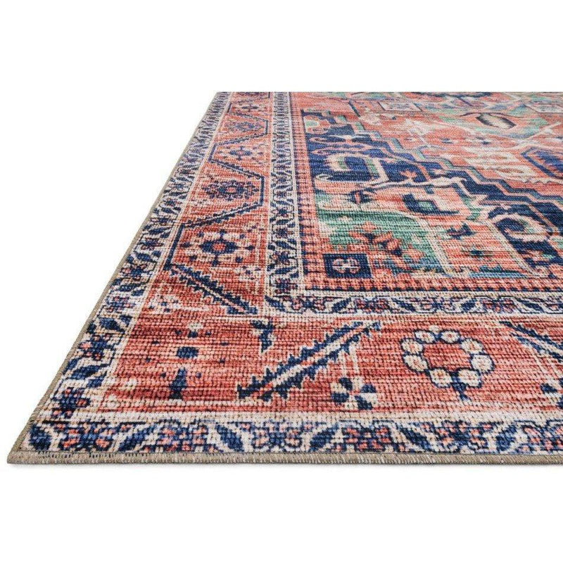 Justina Blakeney Rugs - Cielo - CIE-06 Coral/Multi-Loloi Rugs-Blue Hand Home