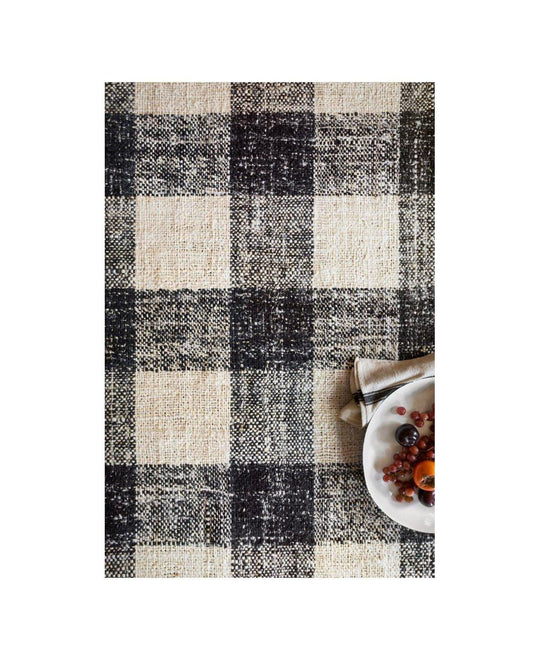 Joanna Gaines Crew Rug Collection - CRE-02 Black/Natural