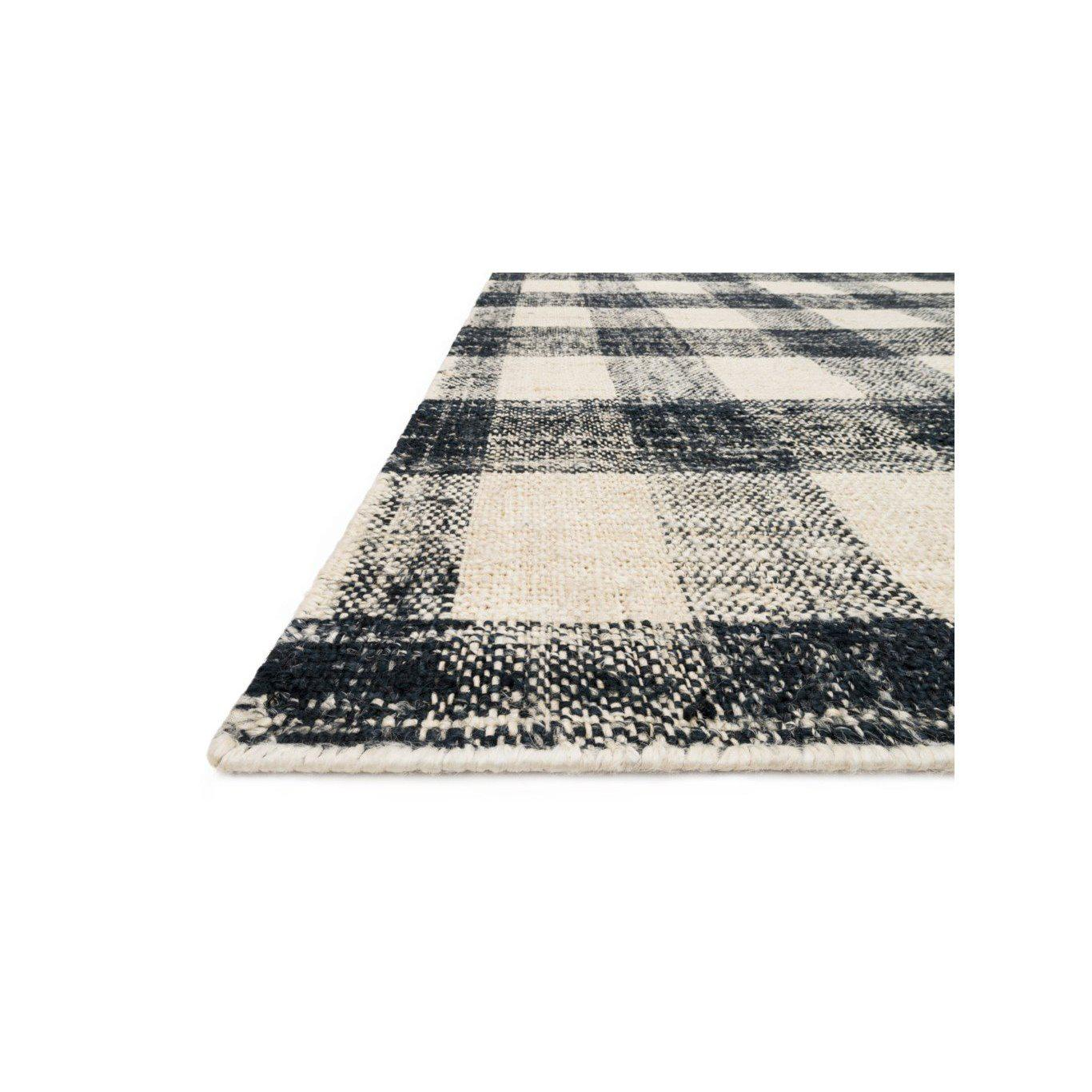 Joanna Gaines Crew Rug Collection - CRE-02 Black/Natural-Loloi Rugs-Blue Hand Home